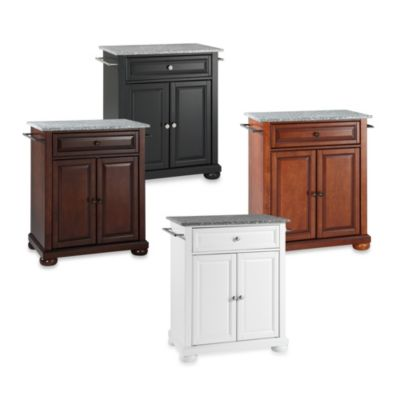 Alexandria Granite Top Portable Kitchen Island