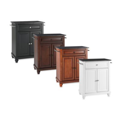 Cambridge Black Granite Top Portable Kitchen Island