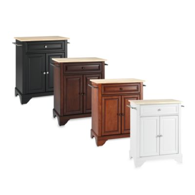 Crosley LaFayette Wood Top Portable Kitchen Island