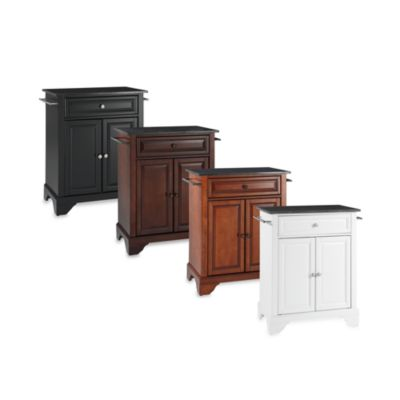 LaFayette Black Granite Top Portable Kitchen Island