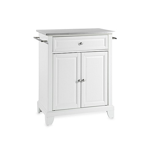 Crosley Newport Stainless Steel Top Portable Kitchen Island