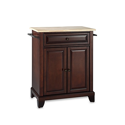 Buy Crosley Newport Natural Wood Top Portable Kitchen Island In Black From Bed Bath Beyond