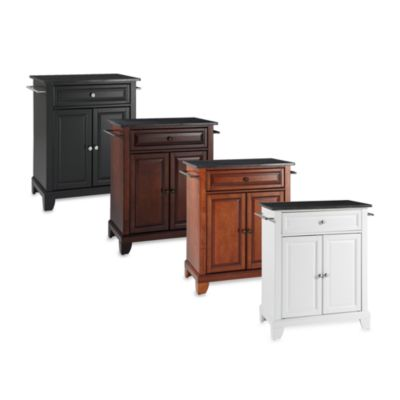 Newport Black Granite Top Portable Kitchen Island