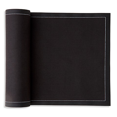 Mydrap Tear-Off Disposable Cotton Premium Dinner Napkins in Black (12 Napkins)
