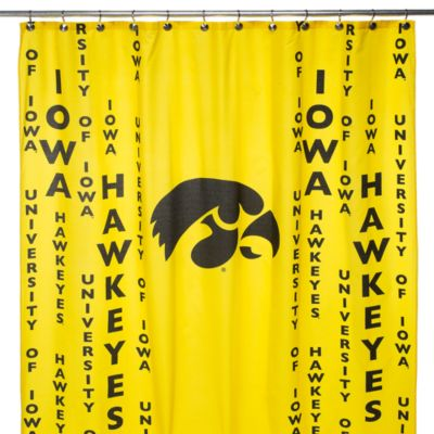 University of Iowa 71-Inch x 71-Inch Shower Curtain
