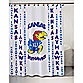 University of Kansas 71-Inch x 71-Inch Shower Curtain