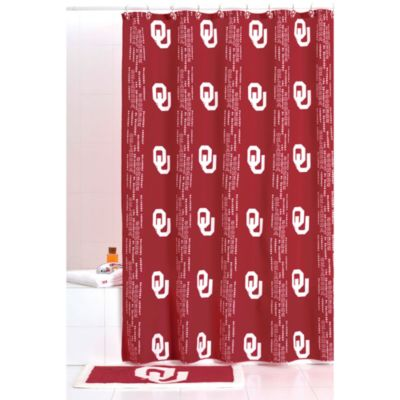 University of Oklahoma 71-Inch x 71-Inch Shower Curtain