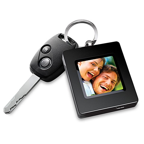 The Sharper Image® Digital Photo Keychain in Black