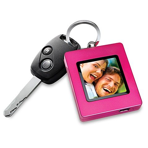 The Sharper Image® Digital Photo Keychain in Pink