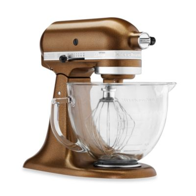 KitchenAid® 5-Quart Artisan® Design Series Stand Mixer with Glass Bowl in Antique Copper