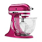 KitchenAid® 5-Quart Artisan® Design Series Stand Mixer with Glass Bowl in Raspberry