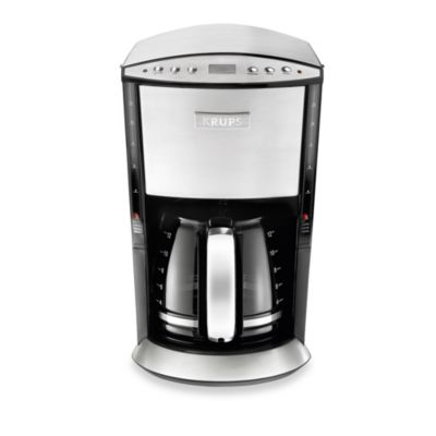 Krups® Stainless Steel 12-Cup Programmable Glass Filter Coffee Maker