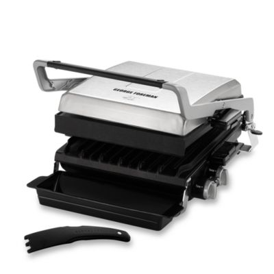 George Foreman® Stainless Steel Grill