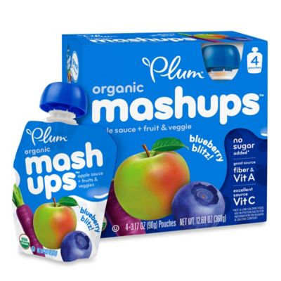 Food > Plum Organics™ Kids Mashups 4-Pack 3.17 oz. Blueberry Blitz Squeezable Fruit