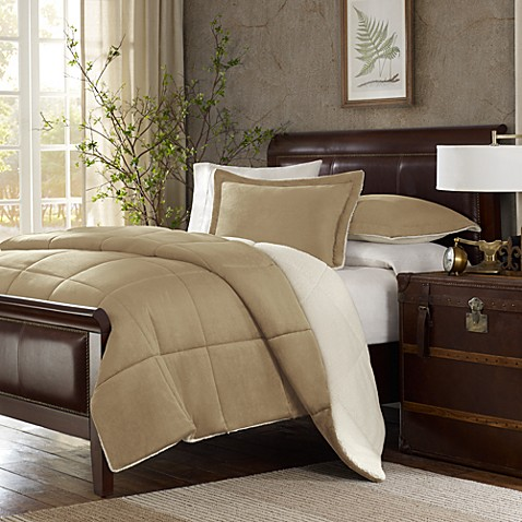 The Seasons® Down Alternative Full/Queen Comforter Set in Tan