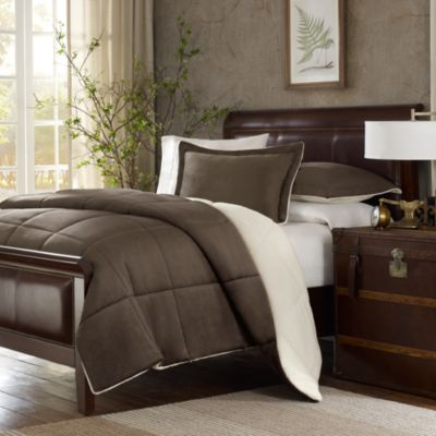 The Seasons® Down Alternative Full/Queen Comforter Set in Chocolate