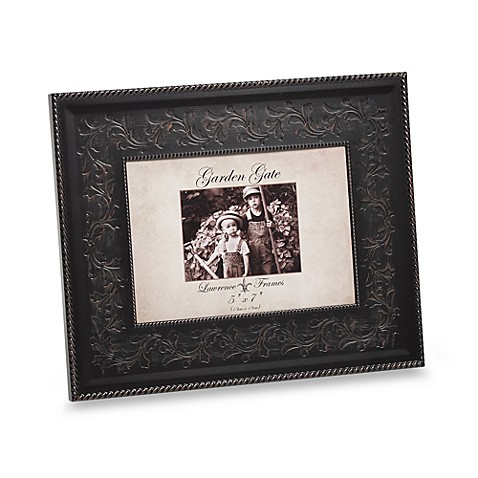 Lawrence Frames Garden Gate 5-Inch x 7-Inch Metal Picture Frame in Bronze Rope