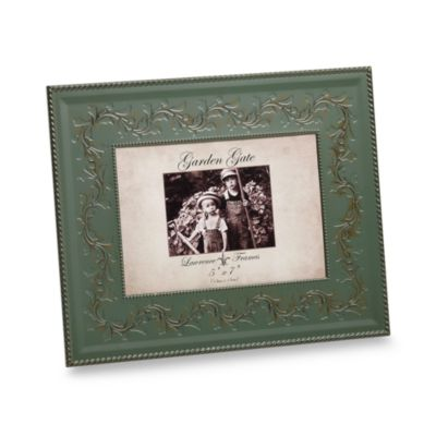 Lawrence Frames Garden Gate 5-Inch x 7-Inch Metal Picture Frame in Sage Floral