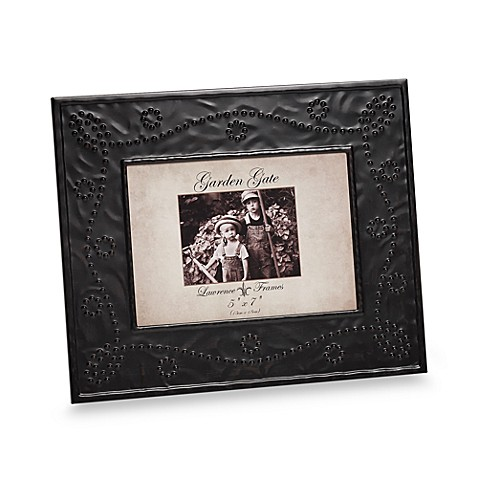 Lawrence Frames Garden Gate 5-Inch x 7-Inch Metal Picture Frame in Bronze Bead