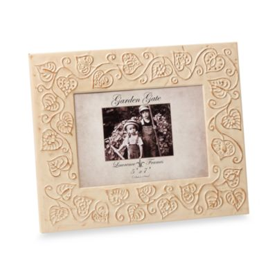 "Fred M. Lawrence Garden Gate 5"" x 7"" Metal Picture Frame - Bronze Bead"