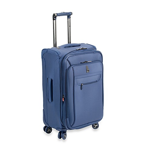 delsey helium x 39 pert lite 3 0 21 inch expandable suiter trolley in blue bed bath beyond. Black Bedroom Furniture Sets. Home Design Ideas