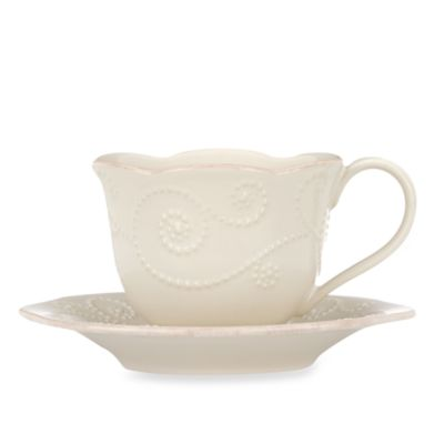 Lenox® French Perle Cup and Saucer in White