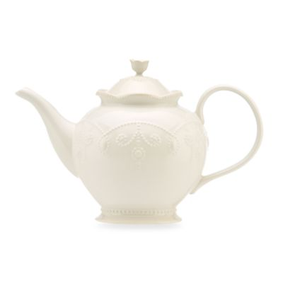 Lenox® French Perle Teapot in White
