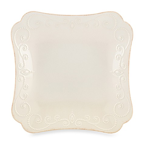 Lenox® French Perle Square Dinner Plate in White