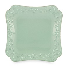 Lenox® French Perle Square Dinner Plate in Ice Blue