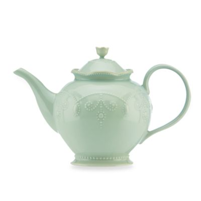 Lenox® French Perle 48-Ounce Teapot in Ice Blue