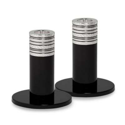 Vera Wang Wedgwood® with Love Noir 4-Inch Candlestick Pair