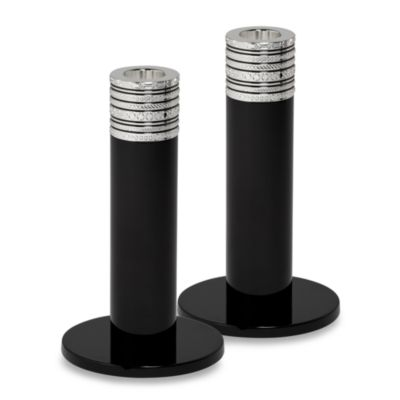 Vera Wang Wedgwood® with Love Noir 6-Inch Candlestick Pair