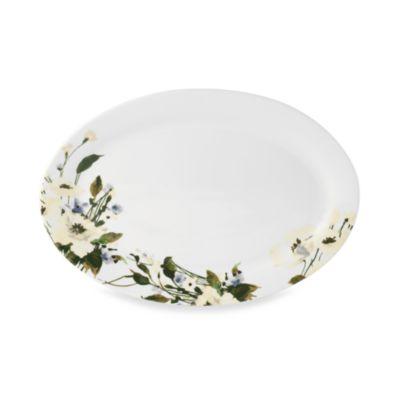 Mikasa® Linen Bloom 14-Inch Oval Platter
