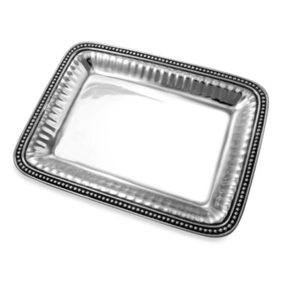 Wilton Armetale® Flutes and Pearls 14-Inch Tray