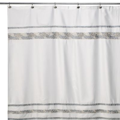 Spa Tile 54-Inch x 78-Inch Fabric Shower Curtain