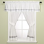 Spa Tile Bathroom Window Curtain Panel Pair