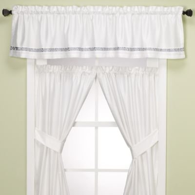 Croscill® Spa Tile Bathroom Window Valance