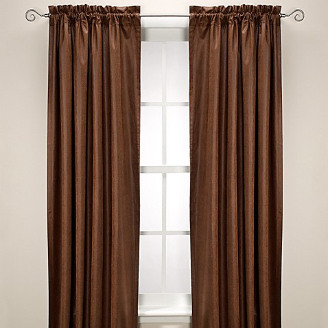 Santa Fe 108-Inch Window Curtain Panel in Chestnut