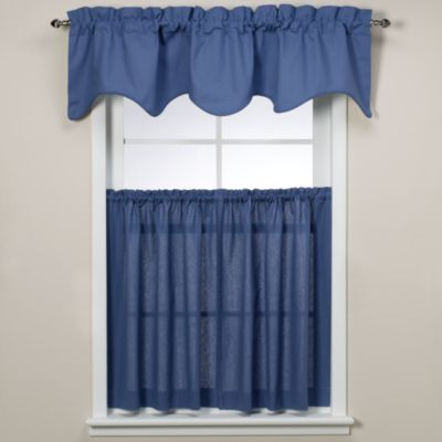Window Curtain Tier Pair in Blue