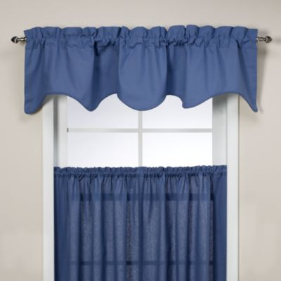 Logan Scallop Valance in Blue