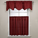 Logan Red Window Curtain Tier Pair