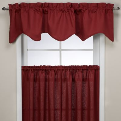 Logan Scallop Valance in Red
