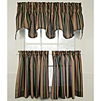 Montego Stripe Window Curtain Tiers, 100% Cotton
