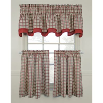 Bristol Plaid 45-Inch Window Curtain Tier Pair