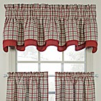 Bristol Plaid Double Valance in Red
