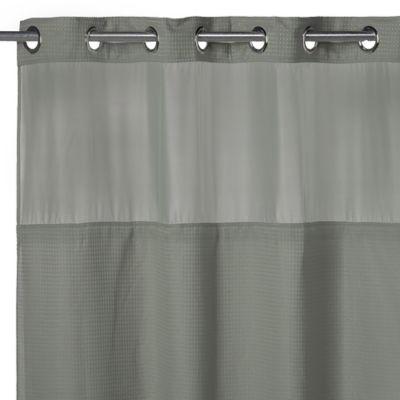 Hookless® Waffle Fabric Shower Curtain and Liner Set in Sage