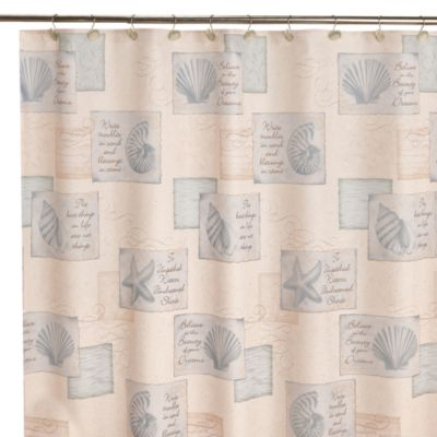 Shower Curtains with Seashells