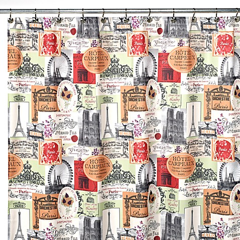 Paris Cafe 70-Inch x 72-Inch Shower Curtain