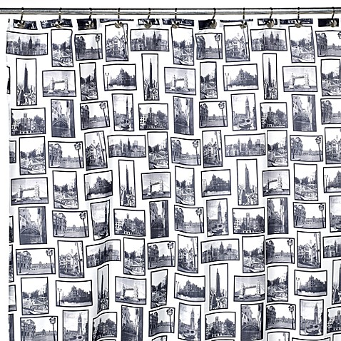 City Portrait 70-Inch W x 72-Inch L Shower Curtain