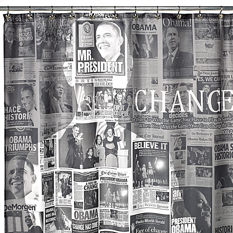 President Obama 70-Inch W x 72-Inch L Shower Curtain